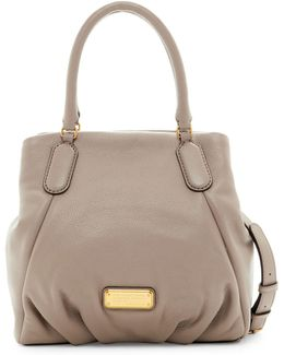 New Q Fran Leather Satchel Shoulder Bag
