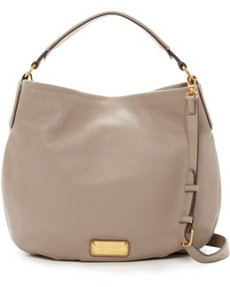 New Q Hillier Leather Hobo