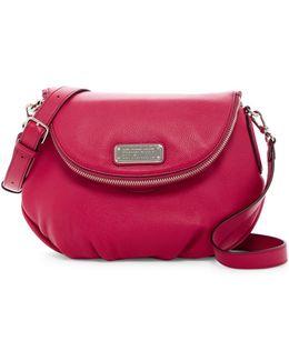 New Q Natasha Leather Cross-body Bag