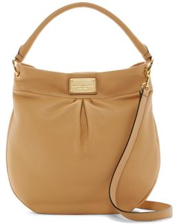 Classic Leather Hobo Bag