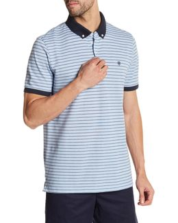 Short Sleeve Stripe Tailored Fit Polo