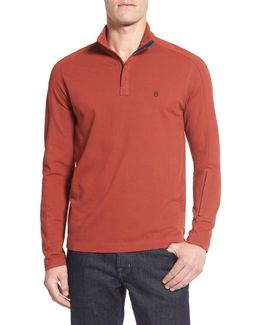 Victorinox Swiss Army 'uhrmacher' Long Sleeve Quarter Zip Pique Polo