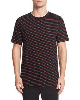 Colin Striped Cotton-blend Jacquard T-shirt