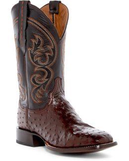 Genuine Ostrich Cowboy Boot