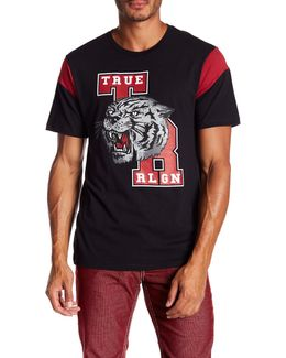 Short Sleeve School Tiger Football Tee