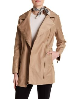 Asymmetrical Zip Raincoat