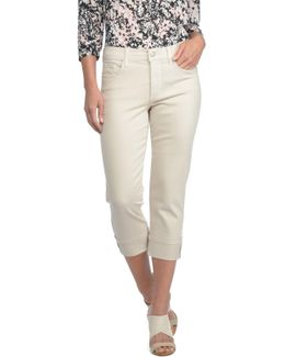 Dayla Colored Wide Cuff Capri Jean