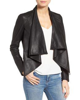'madison' Drape Front Suede Jacket