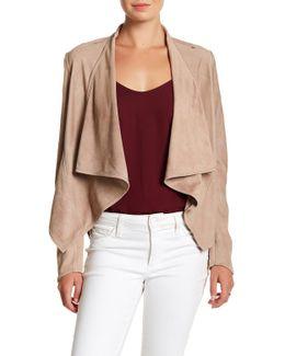 Asymmetrical Suede Jacket
