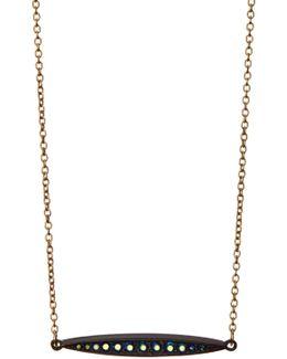 Mahi Channel Set Pendant Necklace