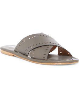 Sage Crisscross Slide Sandal
