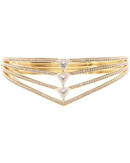 Multi-row Triangle Hinge Bangle