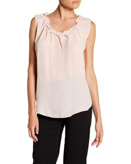 Ruched Neck Blouse