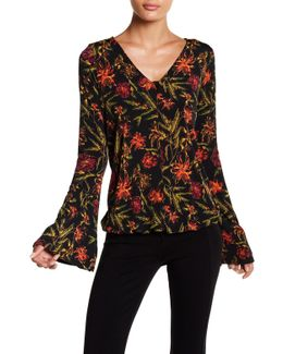Printed Bell Blouse