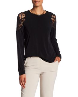 Lace Shoulder Shirt