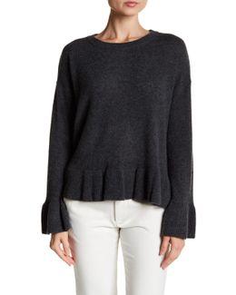 Ruffle Hem Cashmere Sweater