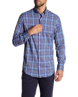 Animal Plaid Long Sleeve Woven Shirt