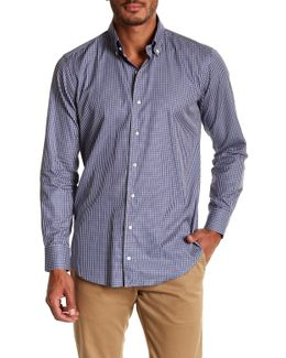 Veneto Checkered Print Regular Fit Woven Shirt
