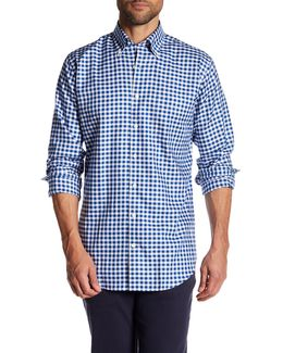 Port Oxford Checkered Long Sleeve Classic Fit Sport Shirt