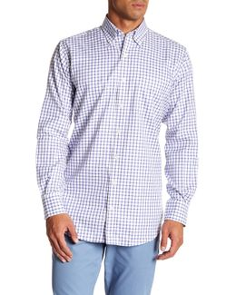Nanoluxe Twill Tattersall Regular Fit Dress Shirt