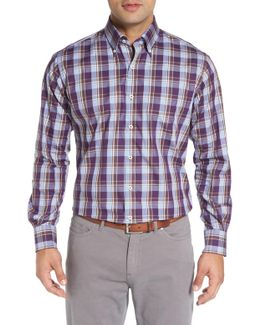Autumn Regular Fit Plaid Sport Shirt