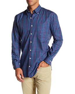 Fall Pinwheel Pin Pane Regular Fit Dress Shirt