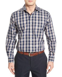 Regular Fit Plaid Sport Shirt