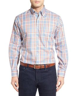 Melange Plaid Regular Fit Dress Shirt