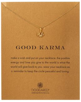 14k Gold Plated Sterling Silver Good Karma Charm Necklace
