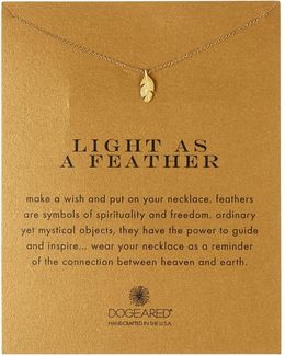 14k Gold Plated Sterling Silver Light As A Feather Necklace