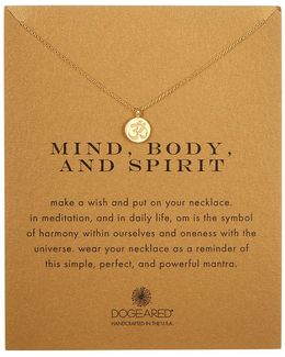 14k Gold Plated Sterling Silver Mind, Body, & Spirit Om Charm Necklace