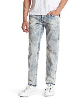 Flap Pocket Washed Skinny Jean