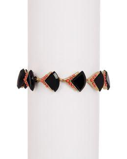 Geometric Studded Stone Bracelet