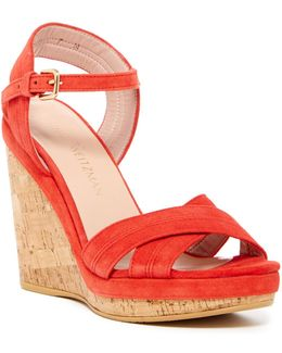Minky Platform Wedge Sandal - Wide Width Available