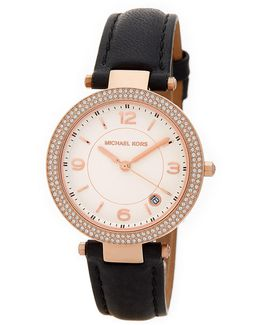 Women's Small Parker Leather Strap Watch