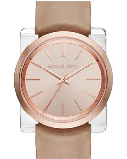 Women's Kempton Leather Strap Watch