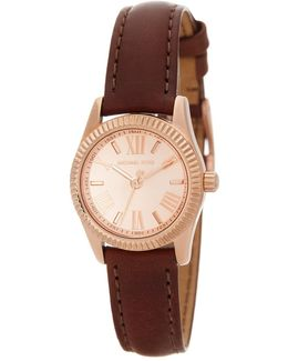 Women's Petite Lexington Leather Strap Watch