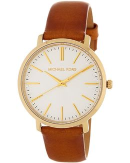 Women's Jaryn Leather Strap Watch Set