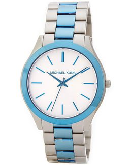 Women's Slim Runway Two-tone Bracelet Watch