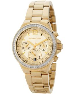 Women's Chronograph Crystal Accented Bracelet Watch