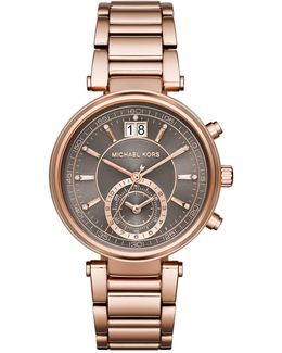 Women's Rose Gold Tone Stainless Steel Watch