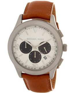 Men's Gareth Leather Strap Watch