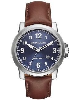Men's Paxton Leather Strap Watch
