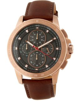 Men's Ryker Leather Strap Watch