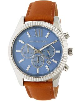 Men's Lexington Leather Strap Watch