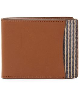 Knox Leather Bifold Id Flap Wallet