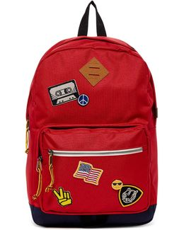 Red Patch Backpack