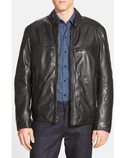 'mac' Lightweight Leather Moto Jacket