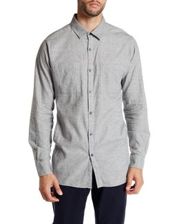 Long Sleeve Pocket Button Up Modern Fit Shirt