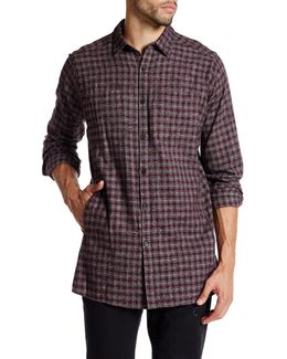 Long Sleeve Printed Flannel Modern Fit Shirt